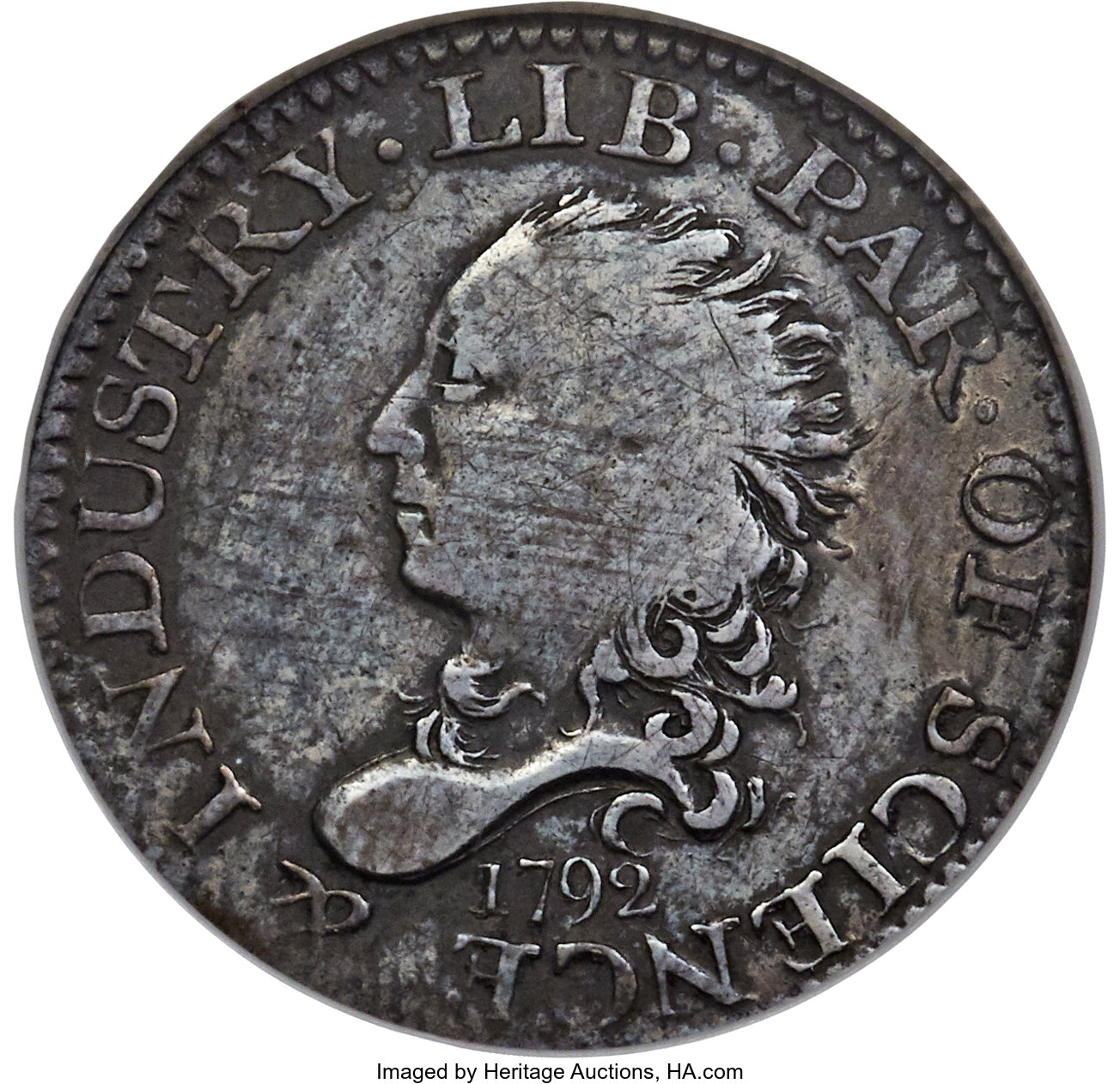 main image for Poulus collection offered at Long Beach this week features affordable 1792 half disme among other rarities
