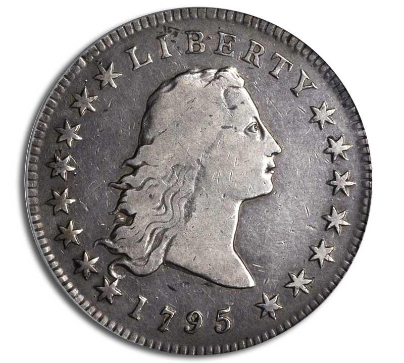 Circulated 1795 Flowing Hair Dollar