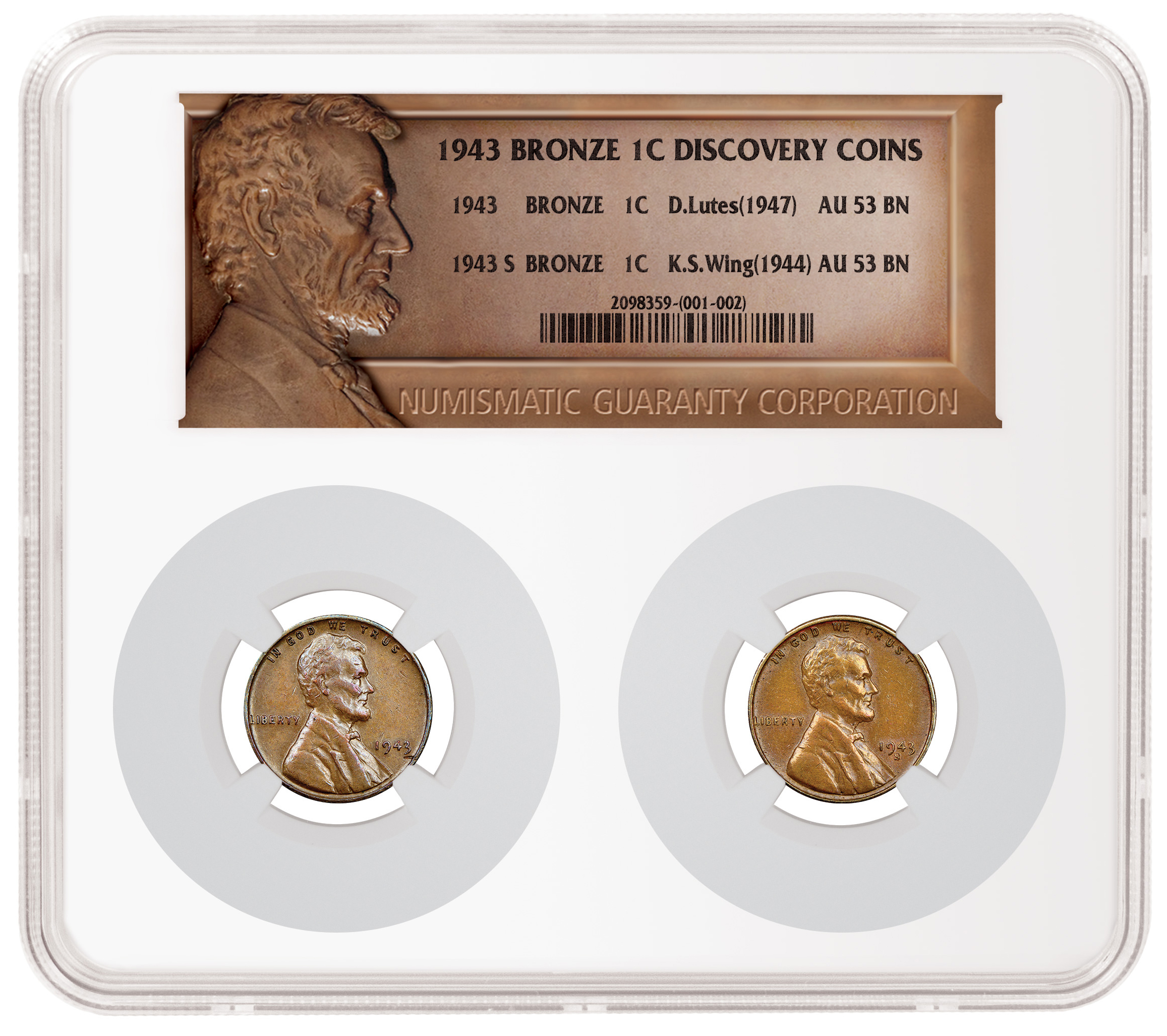thumbnail image for Special NGC holder allows owner of 1943 copper cent rarities unique presentation