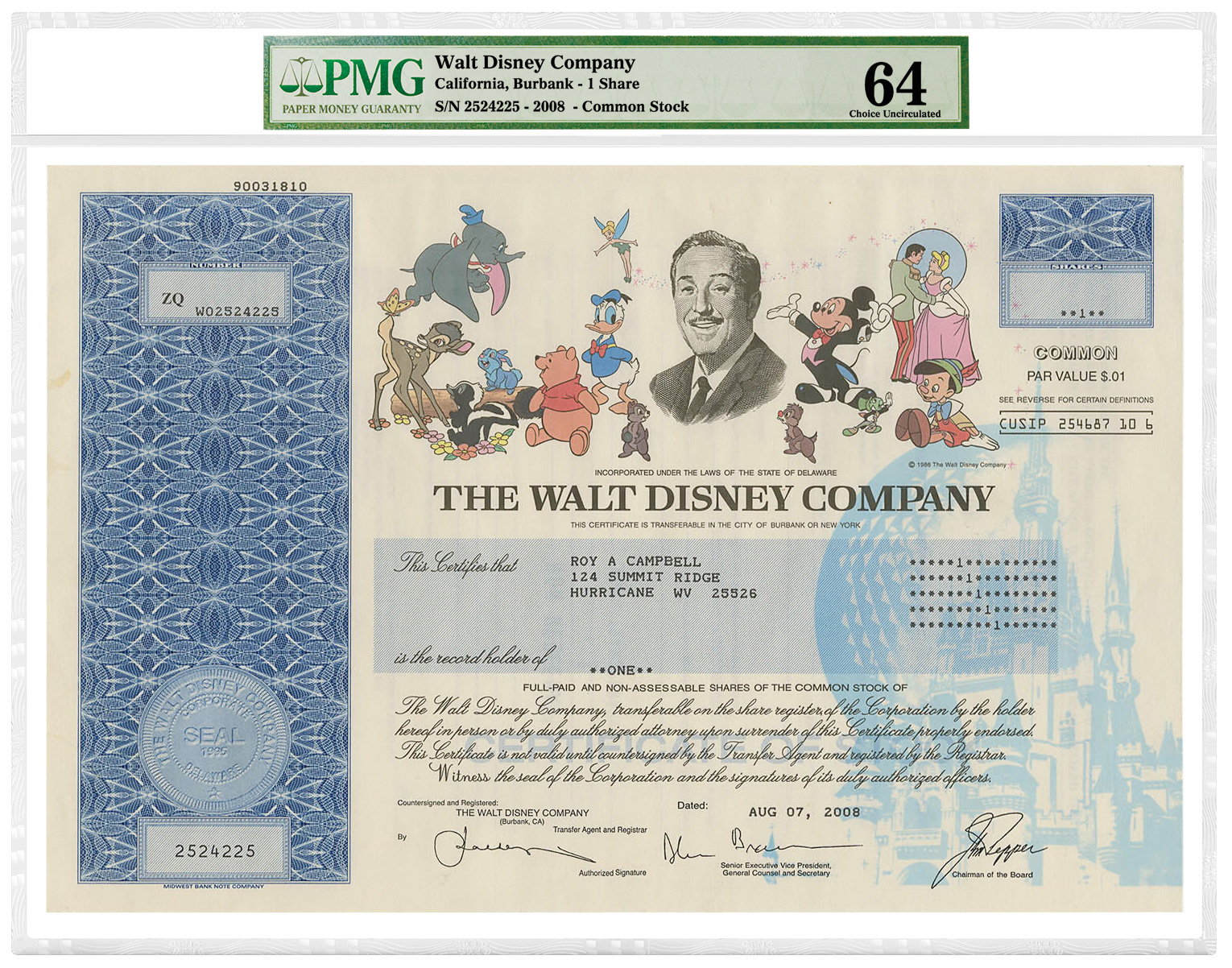main image for PMG Announces Grading Services for Bond and Stock Certificates