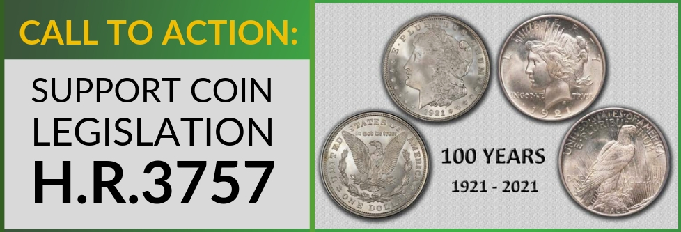 main image for Is it possible to see a Morgan dollar dated 2021??? The ANA is working on it! But they need you to contact your representative...