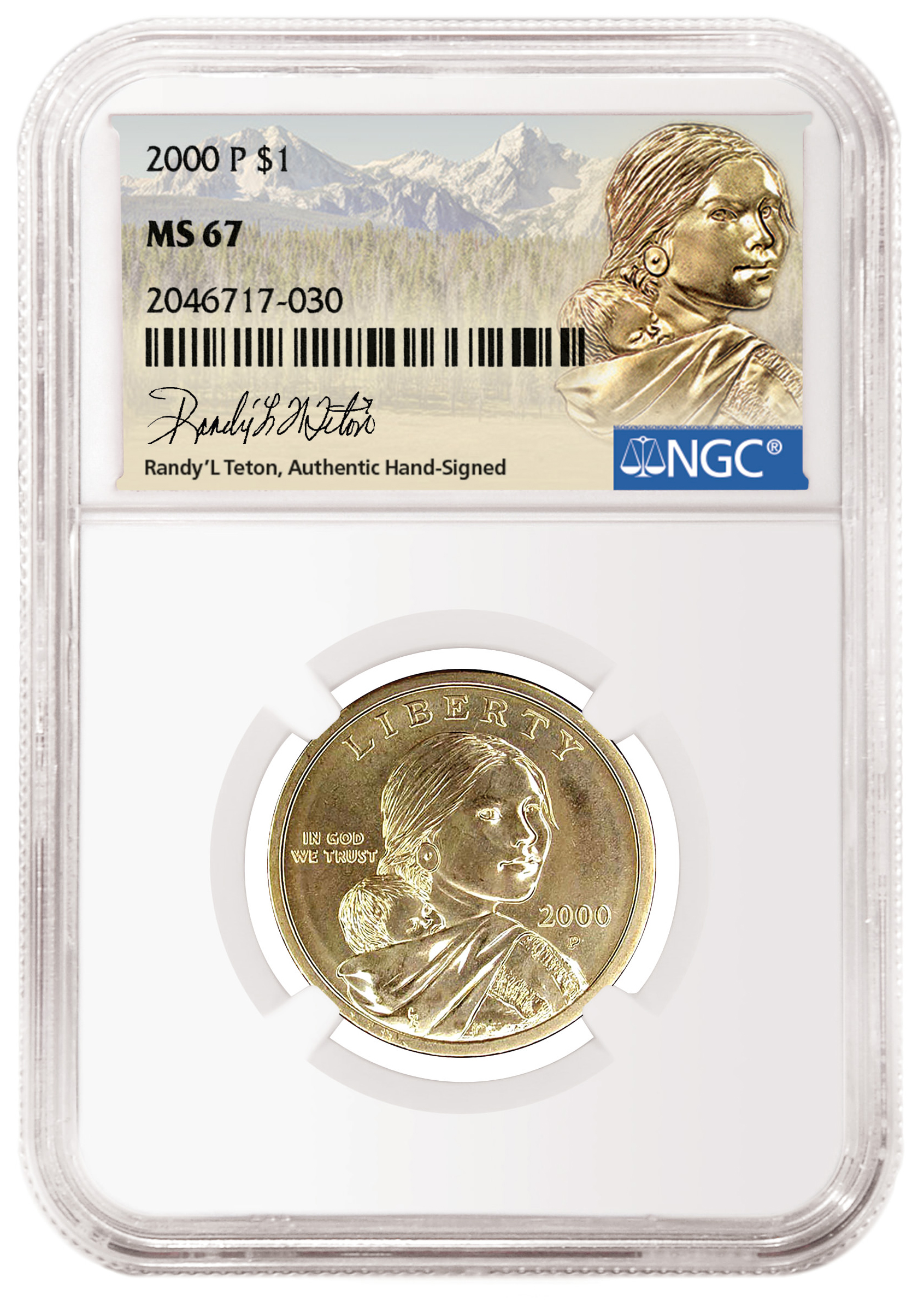 main image for Shoshone Woman Who Was the Model for the Sacajawea Golden Dollar to Hand-Sign NGC Labels