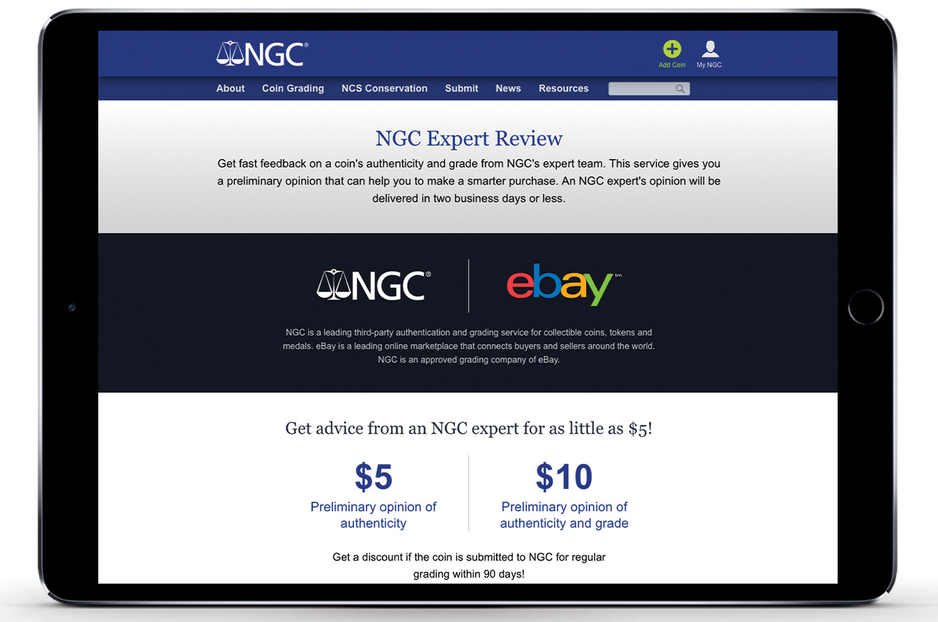 thumbnail image for Press Release: NGC and eBay Partner on Expert Review Service