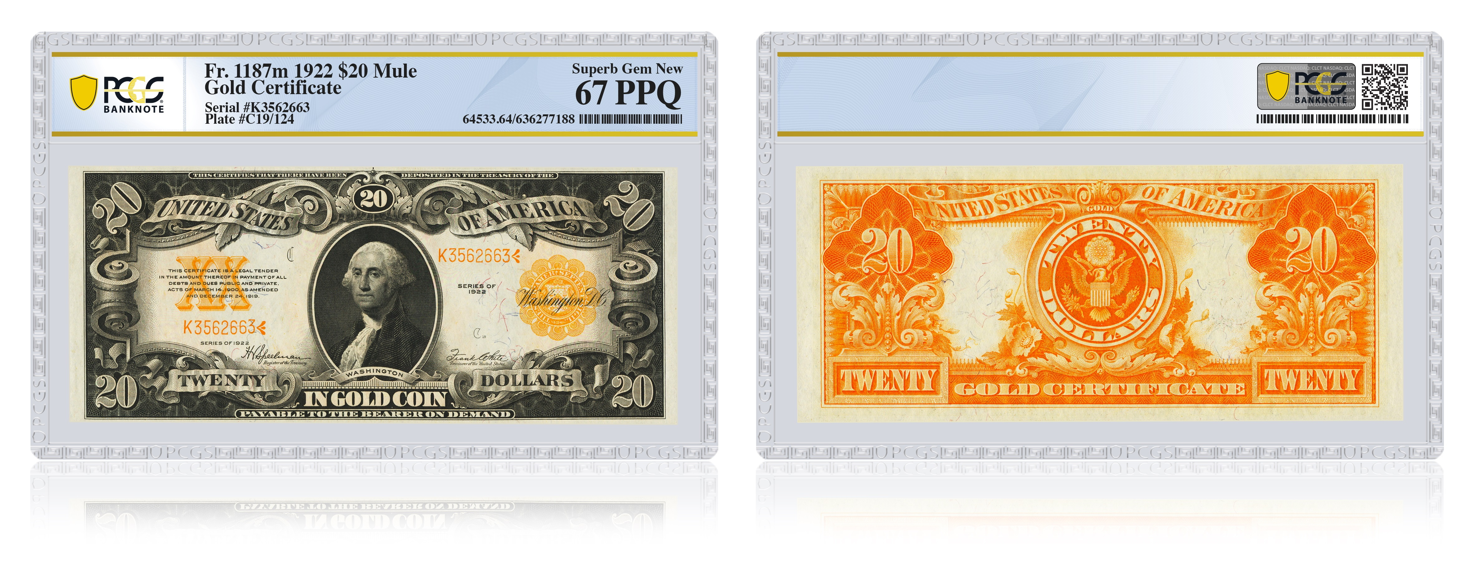 thumbnail image for PCGS to get back into paper money grading. First submissions accepted in January