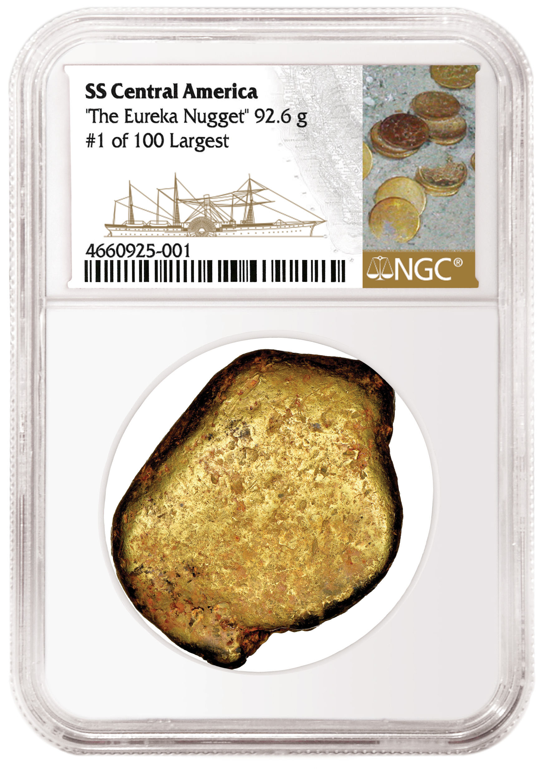 main image for NGC Certifies SS Central America Gold Nuggets