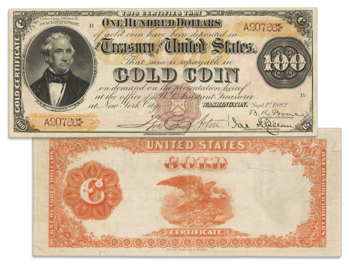 """main image for Press Release: Stacks Bowers to offer """"Triple Signature"""" $100 gold certificate at ANA auction - Unique in private hands"""