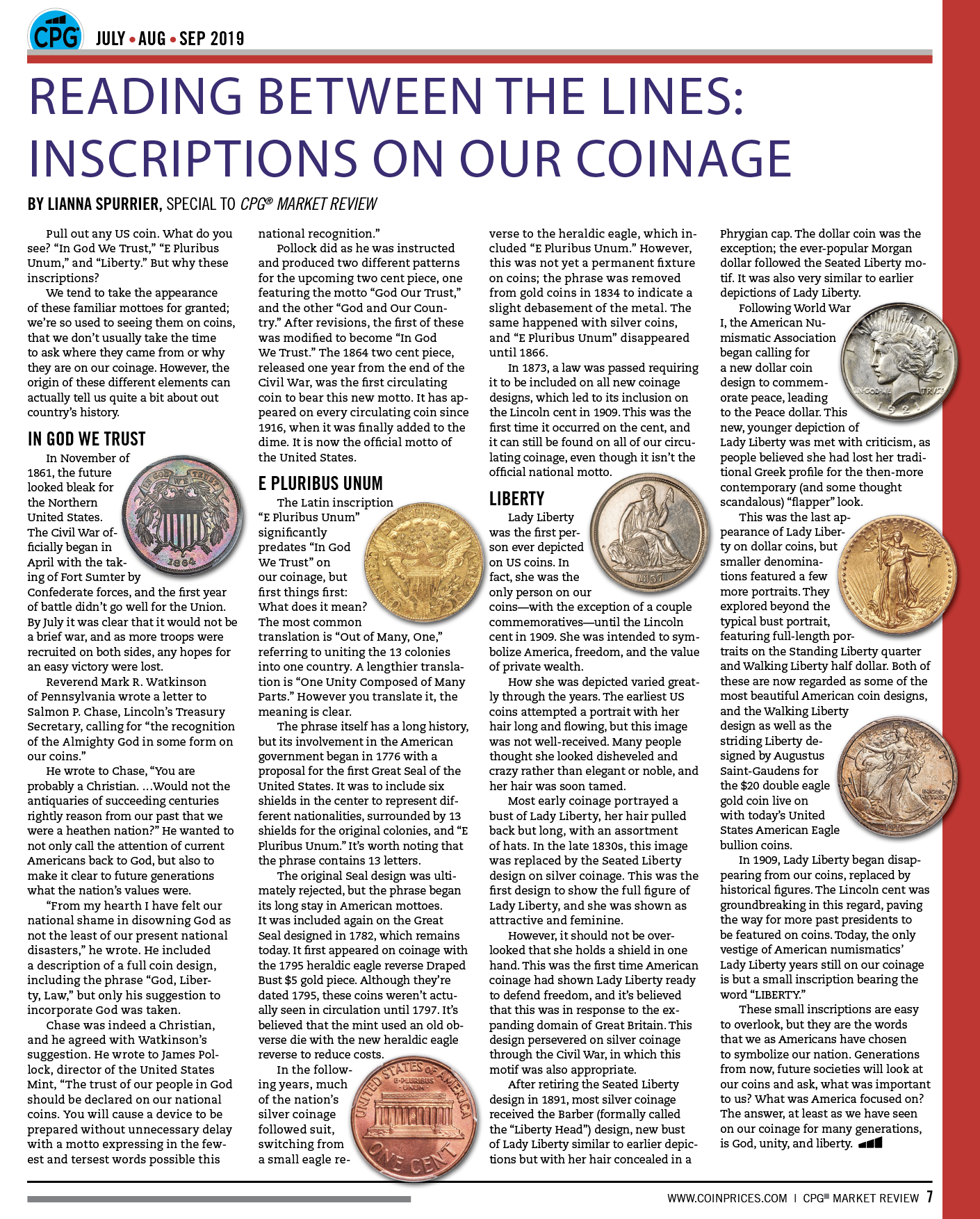 main image for Reading Between the Lines: Inscriptions on our Coinage