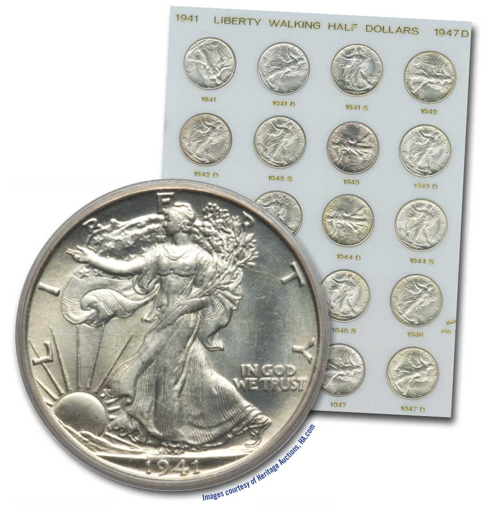 main image for Now is a great time to build a high-grade set of Walking Liberty half dollars