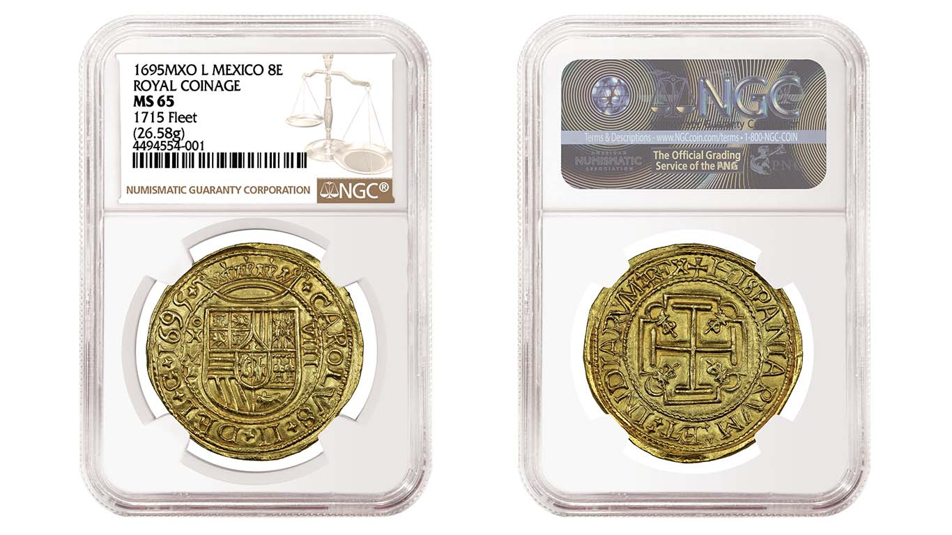 thumbnail image for PRESS RELEASE: NGC Certifies Extremely Rare 1695 Royal 8 Escudos