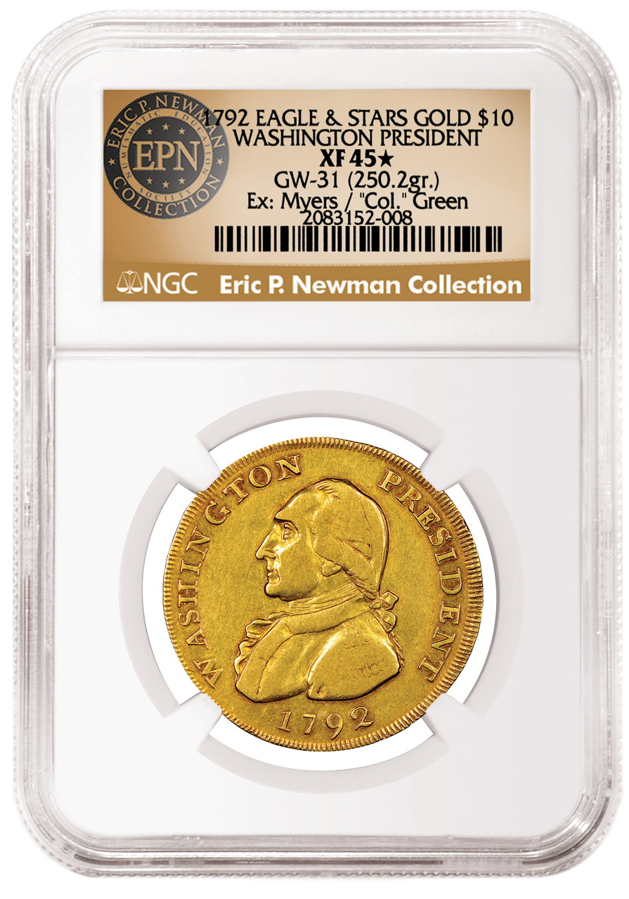 main image for NGC Certifies Newman's Unique 1792 Washington President Gold Eagle