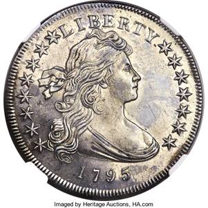 main image for PRESS RELEASE: Specimen 1795 Dollar and Error Rarities Highlight Heritage Auctions' U.S. Coins FUN Sale Jan. 3-8