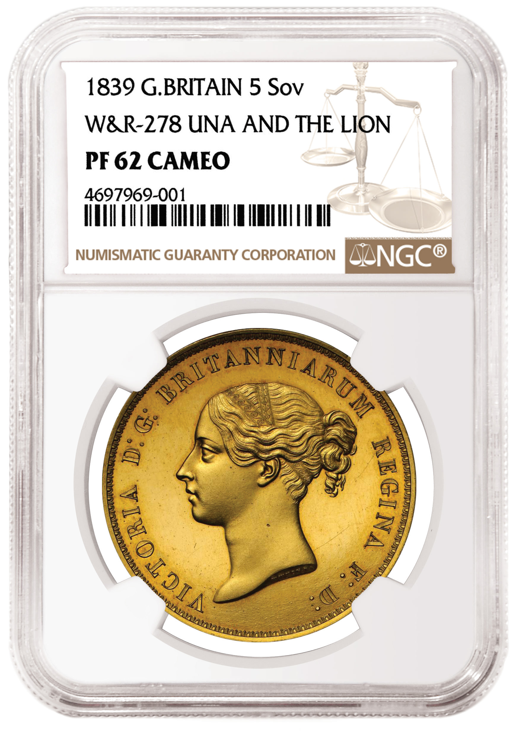 """main image for """"Una and the Lion"""" Proof  Highlights Sovereign Rarities Auction"""