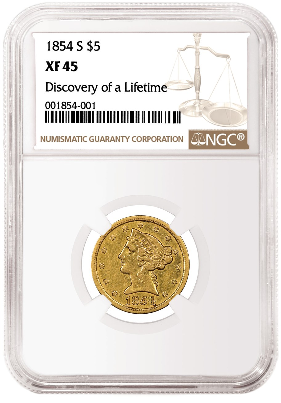 main image for New Discovery Of An 1854-S Half Eagle Making Headlines, Waves