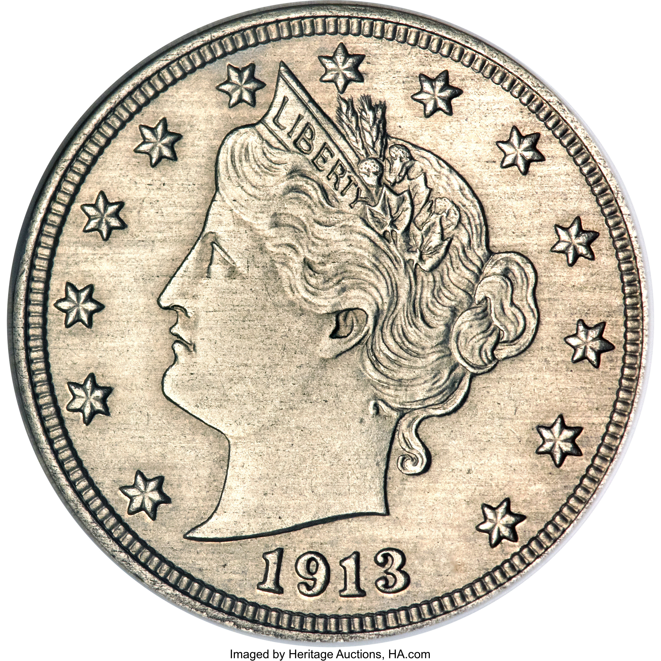 The Famous 1913 Liberty (V) Nickel