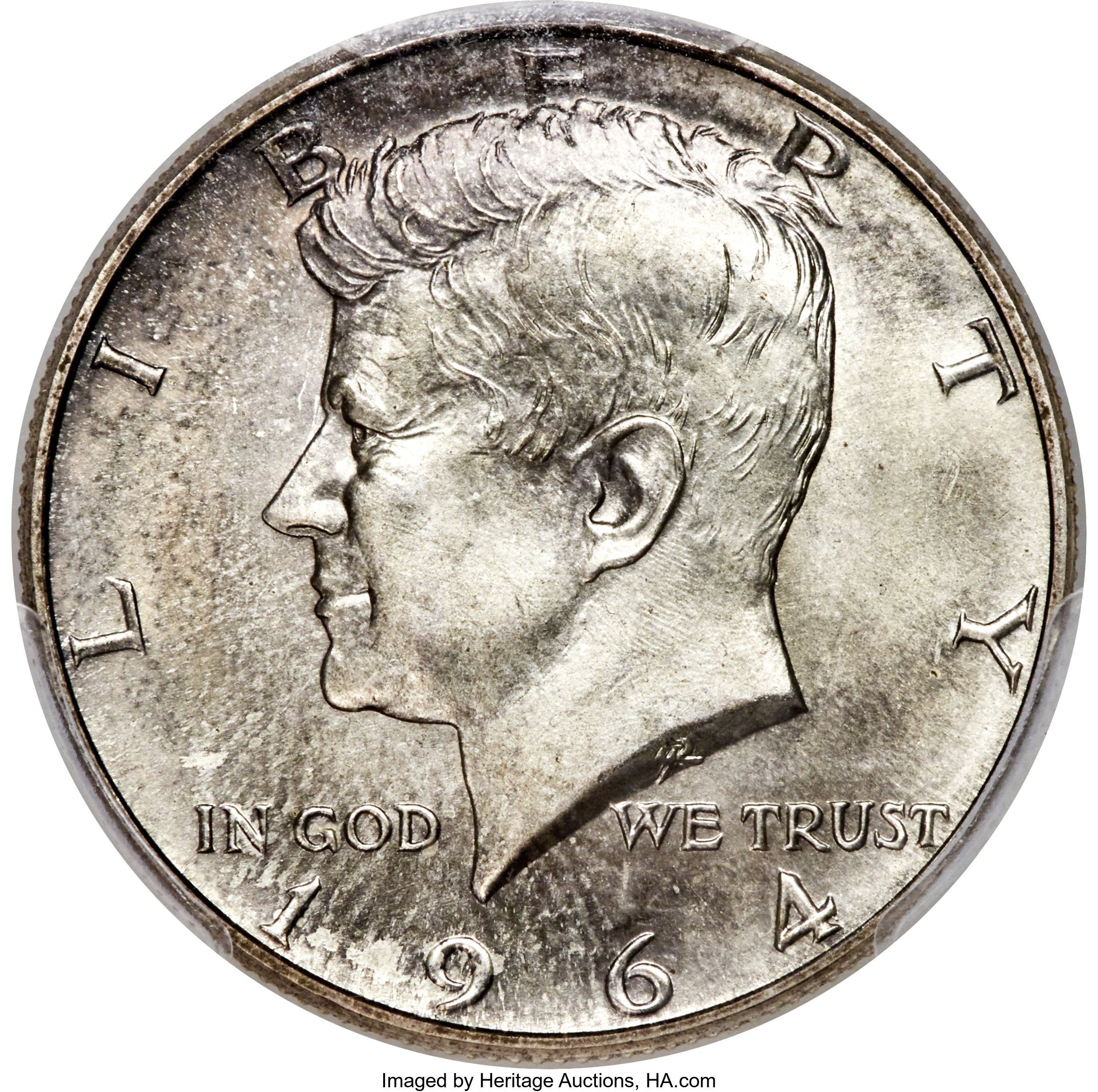 thumbnail image for We Said Kennedy Half Dollars Are Hot! A 1964 Kennedy Half Dollar Snatches A World-Record $108,000!