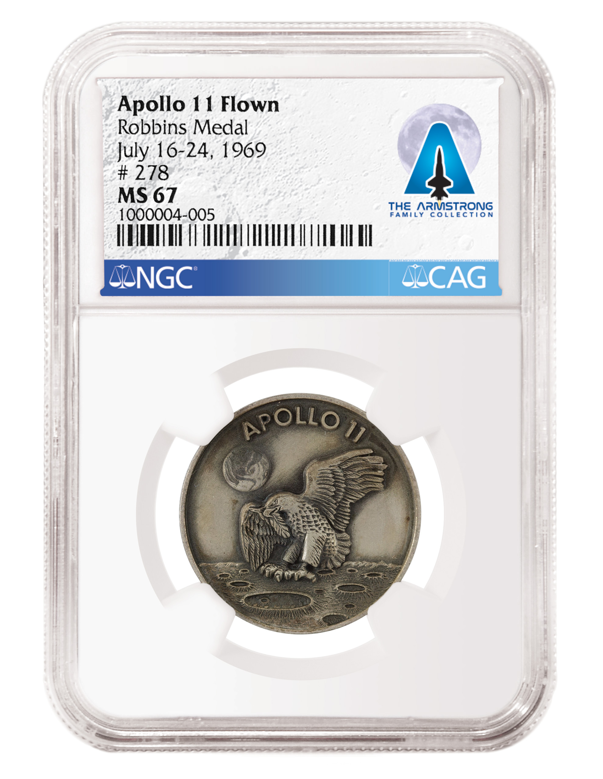 thumbnail image for Neil Armstrong, Apollo 11 Medals, Flags, and Wright Flyer Pieces Excel at the Second Armstrong Family Collection Sale
