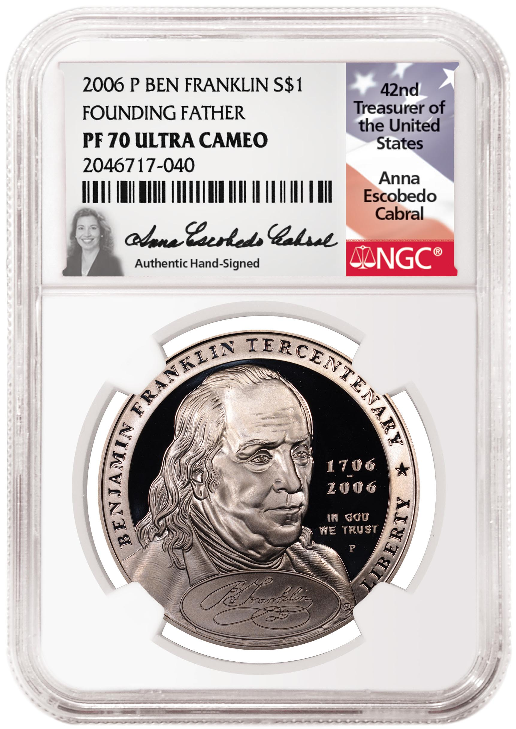 thumbnail image for Anna Escobedo Cabral, the 42nd United States Treasurer, To Sign NGC Labels