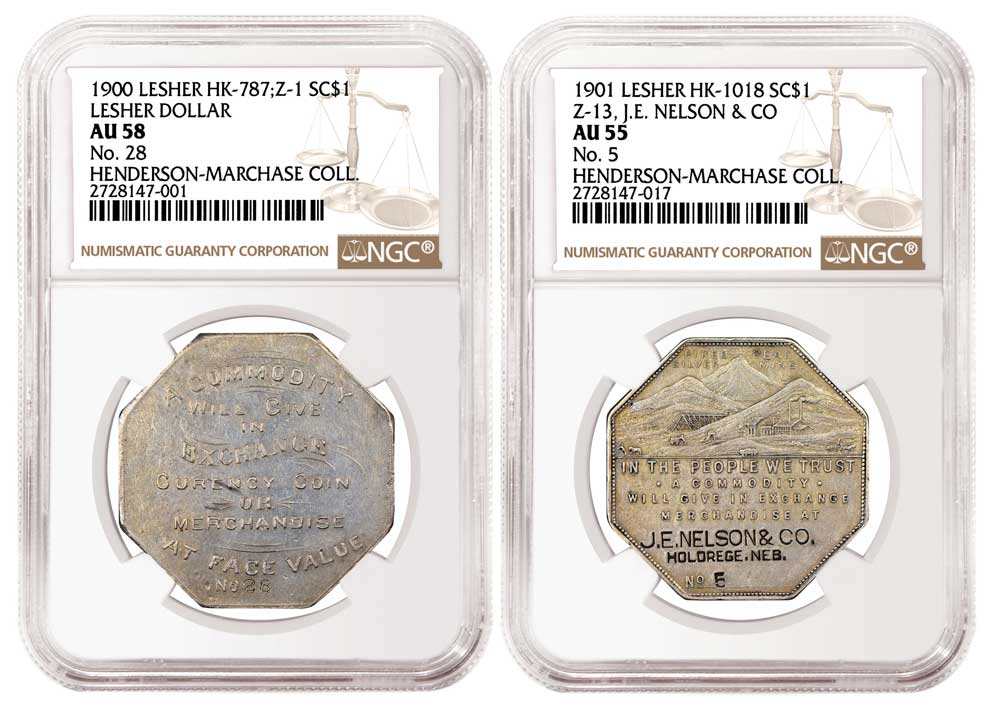 main image for PRESS RELEASE: NGC-certified Set of Lesher Dollars on Display  at ANA Show in Denver