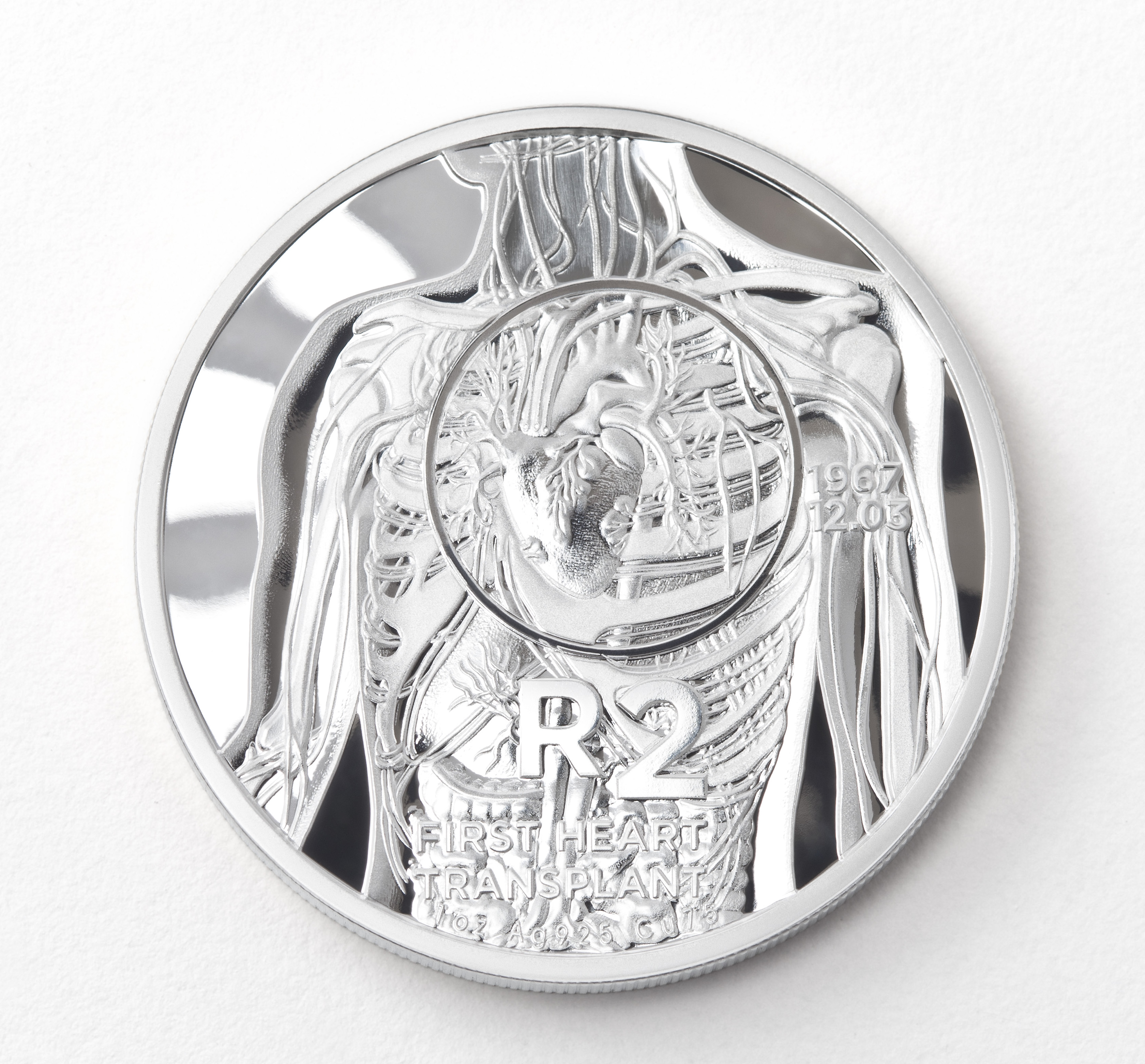 main image for South African Mint's Heart Transplant Commemorative Coin Wins Best Contemporary Event Coin at the Coin Of The Year Awards