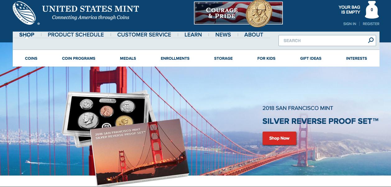 San Francisco US Mint 2018 Silver Reverse Proof Set