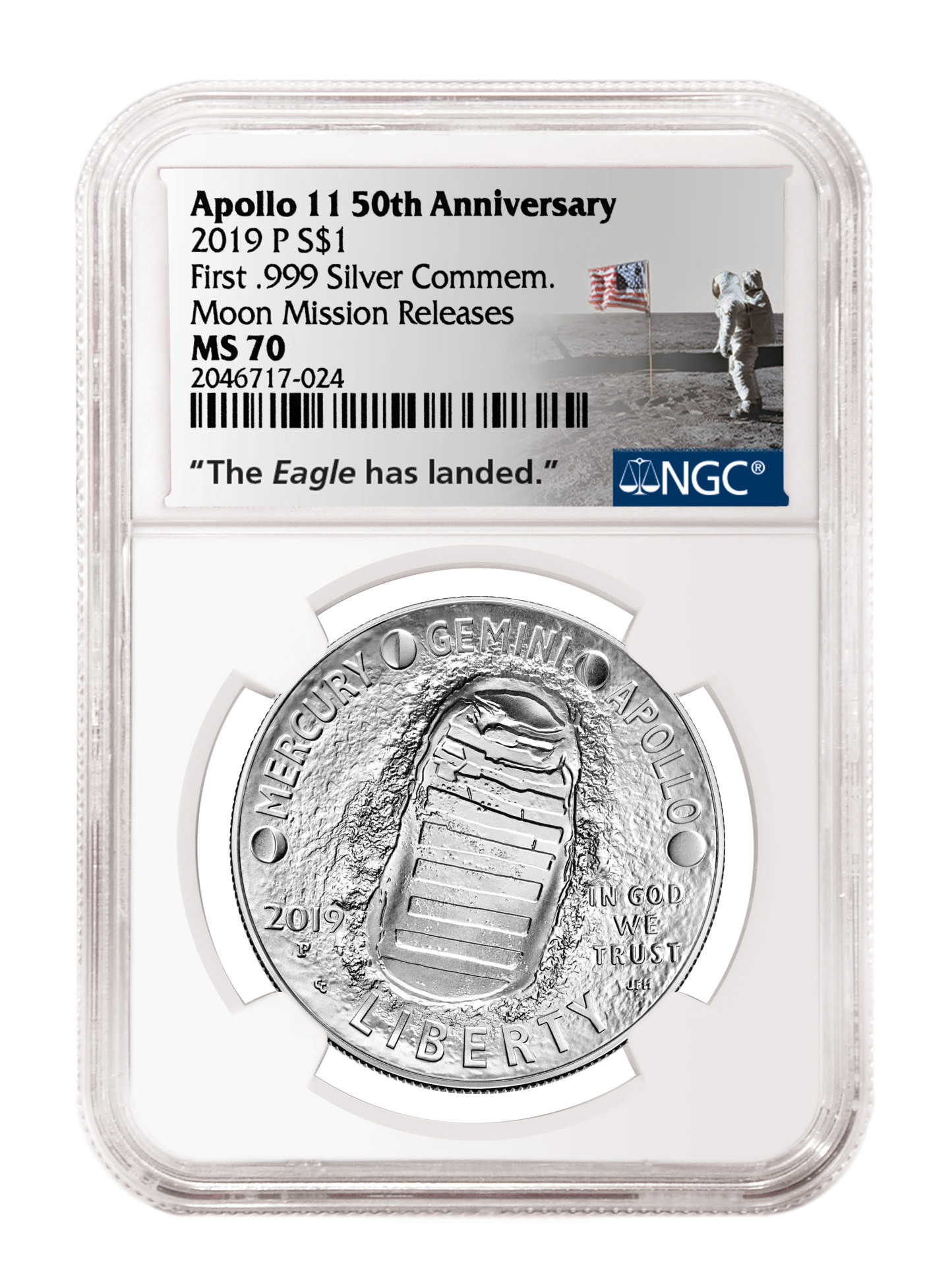 main image for Press Release: Special NGC Label and Designation for Apollo 11 Anniversary Week