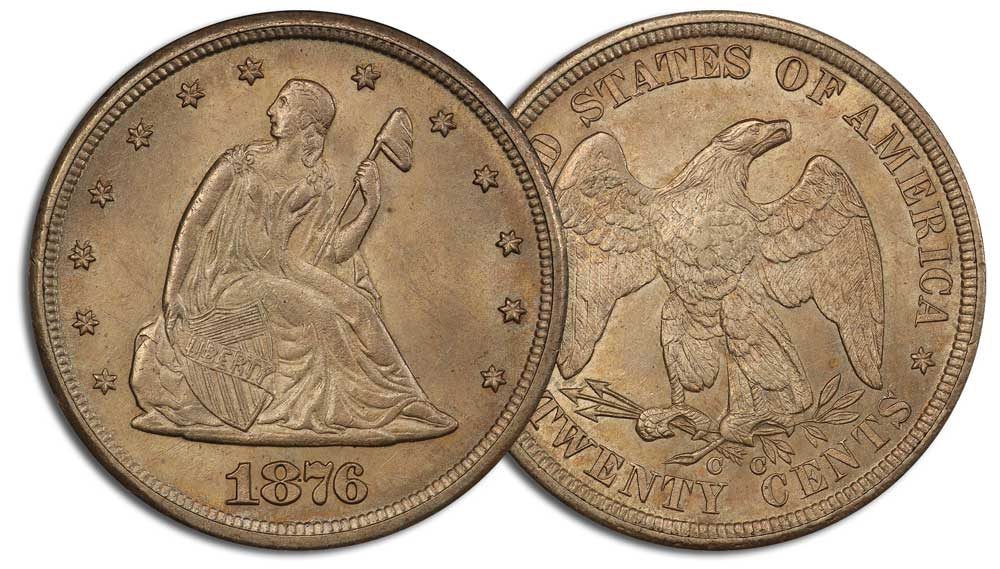 main image for Press Release: Famous 1876-CC twenty-cent rarity to be offered by Stacks Bowers Galleries