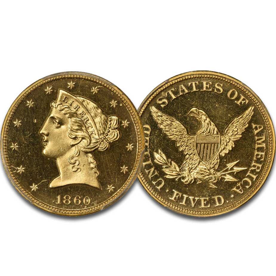 main image for PRESS RELEASE: Kagin's to Offer Bass 1860 Proof Half Eagle