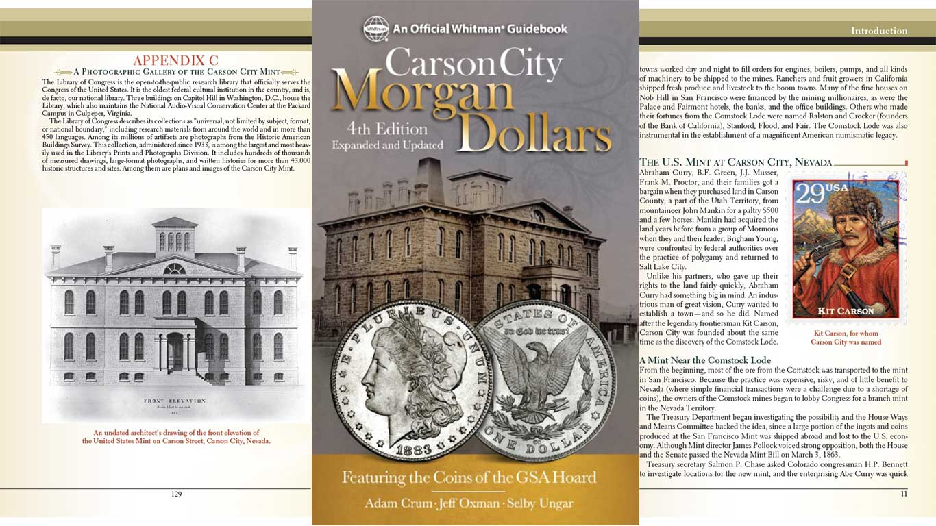 main image for PRESS RELEASE: Whitman Publishing Releases Expanded Carson City Morgan Dollars Book in Updated 4th Edition