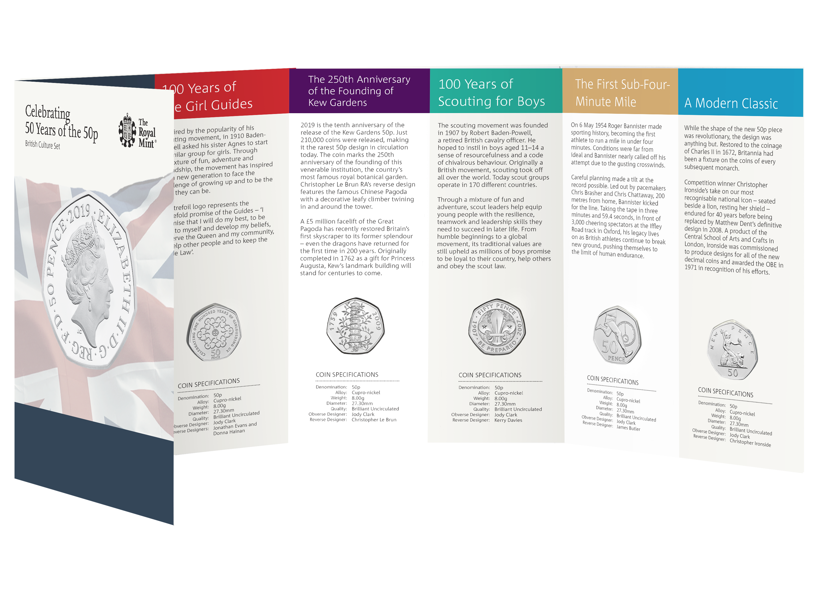 main image for Special British Coins Honor 50th Anniversary Of The 50p Coin