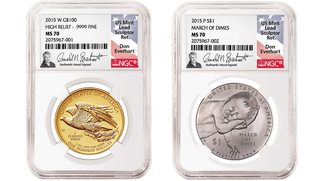 main image for PRESS RELEASE: NGC Signs Don Everhart, Prolific Coin Sculptor and Engraver, to Autograph Labels
