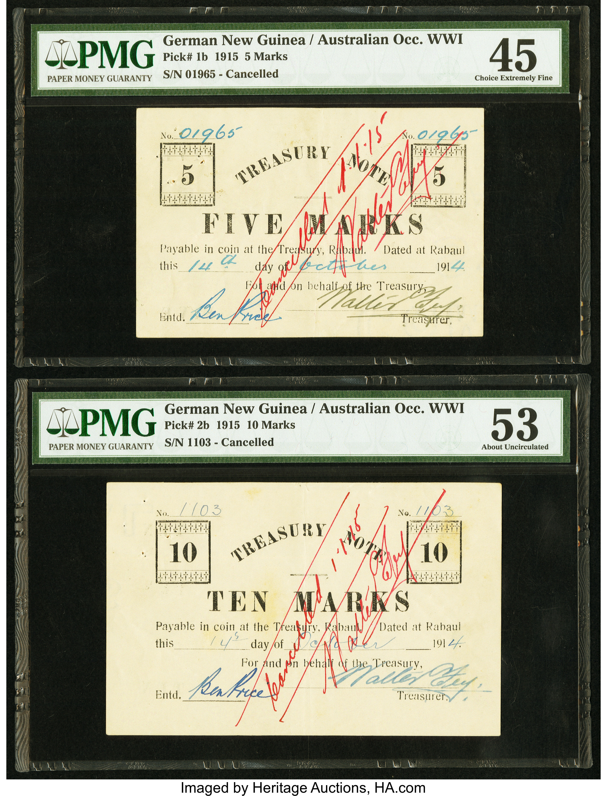 main image for PRESS RELEASE: More Than $2 Million in World Banknotes, Currency Offered Jan. 4-8 By Heritage Auctions