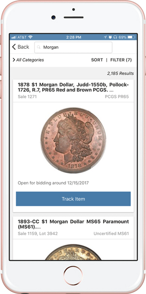 main image for PRESS RELEASE: Heritage Auctions' Mobile App Adds PCGS Coin Barcode Scanning