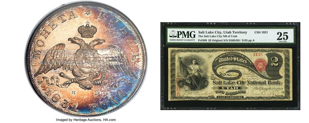 main image for PRESS RELEASE: $21.5+ Million Changes Hands in Heritage Auctions' Long Beach Coin, Currency Events