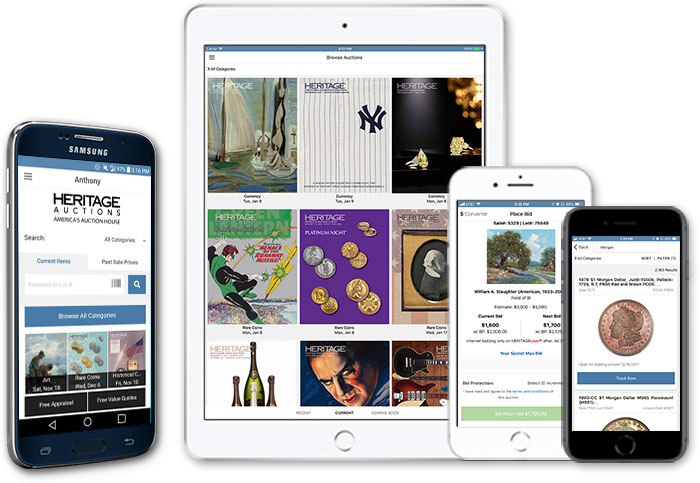 main image for PRESS RELEASE: Heritage Auctions' New Mobile App: Your Collection On Demand