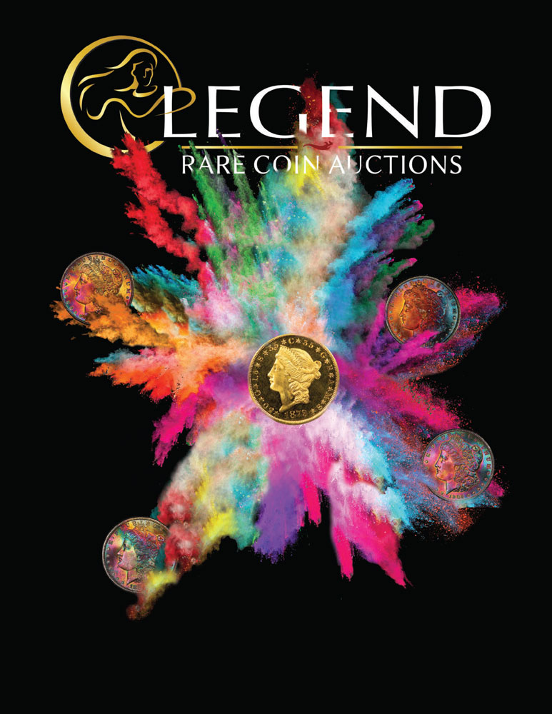 main image for PRESS RELEASE: Legend Rare Coin Auctions to Auction the Oak Crest Collection of Carson City Half Eagles and Crow River Collection of Peace Dollars