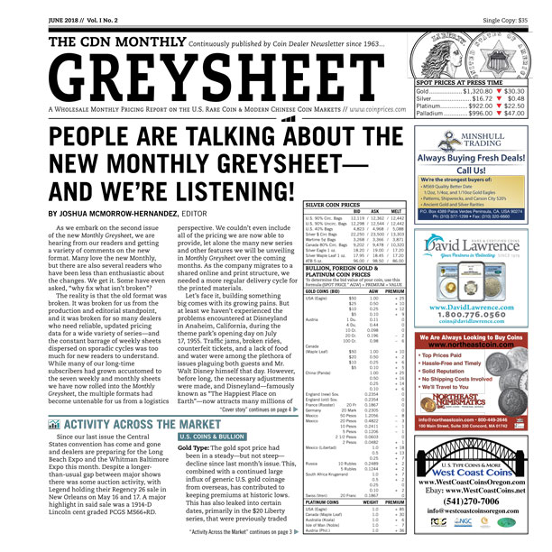 main image for June Issue of Monthly Greysheet is Now Available Online