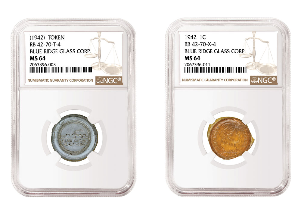 main image for PRESS RELEASE: NGC Certifies 17 Experimental Glass Cents and Tokens