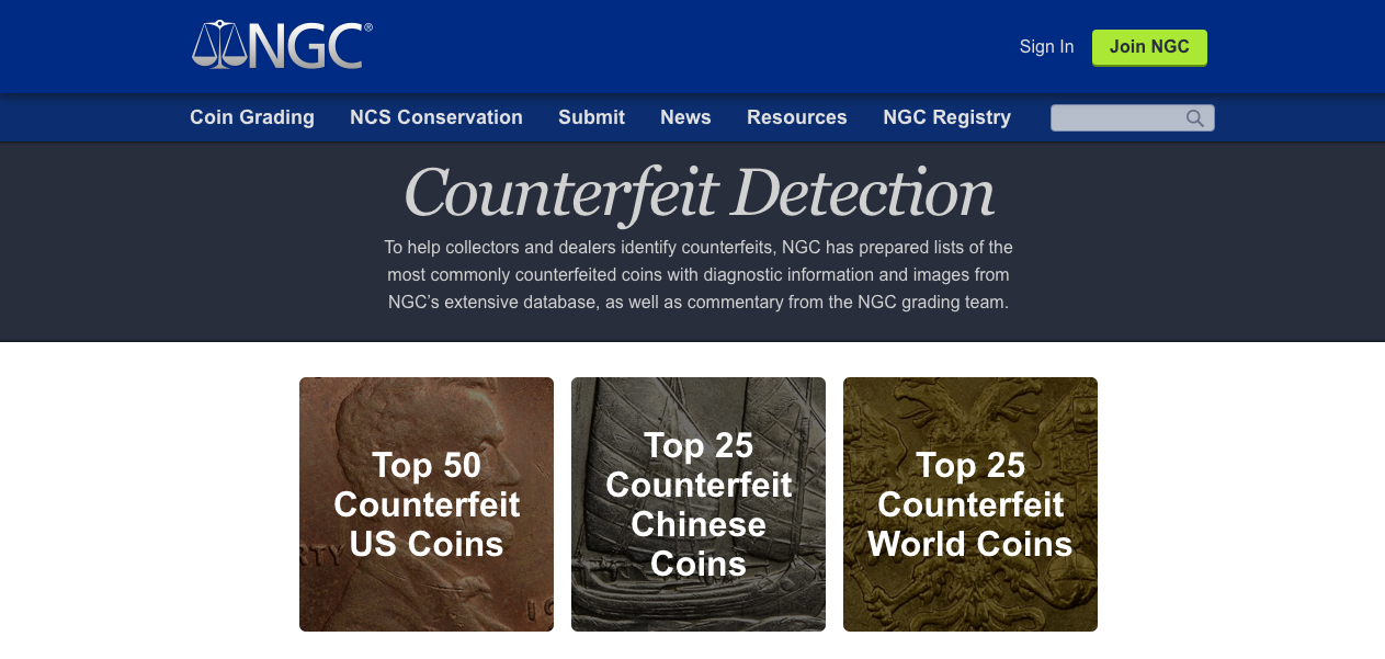 main image for NGC Joins Numismatic Superteam To Fight Counterfeit Coins