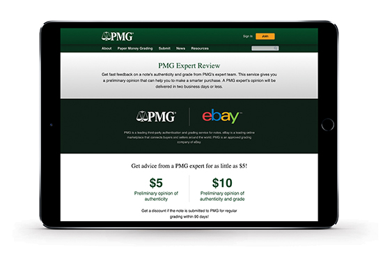 main image for Press Release: PMG and eBay Partner on Expert Review Service