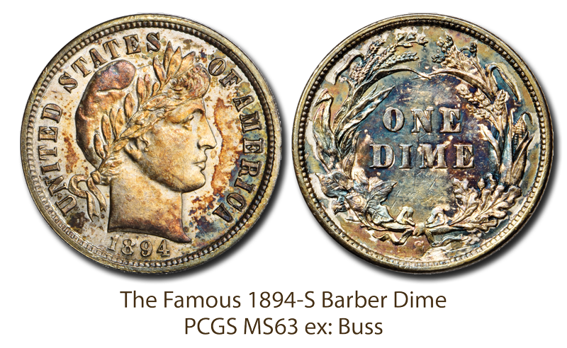 main image for Press Release: Stack's Bowers to Auction famed Buss-specimen 1894-S Dime at ANA