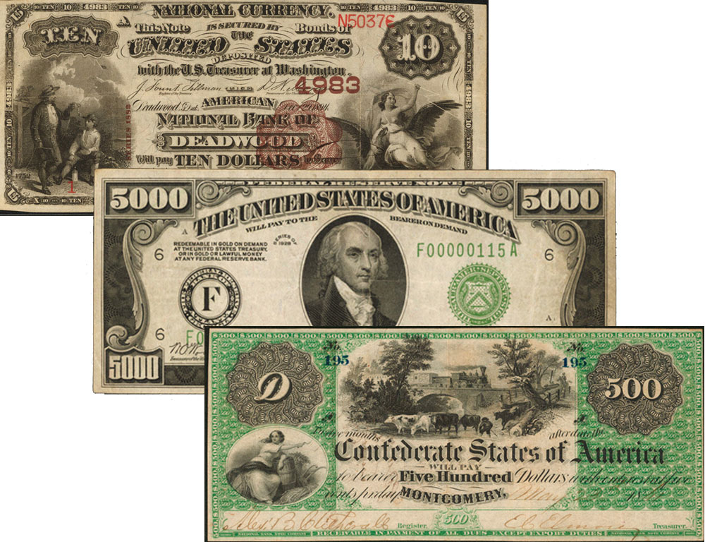thumbnail image for PRESS RELEASE: High Grade Confederate Currency, 1928 $5000 and Rare National Banknotes Highlight the Stack's Bowers ANA Currency Auction