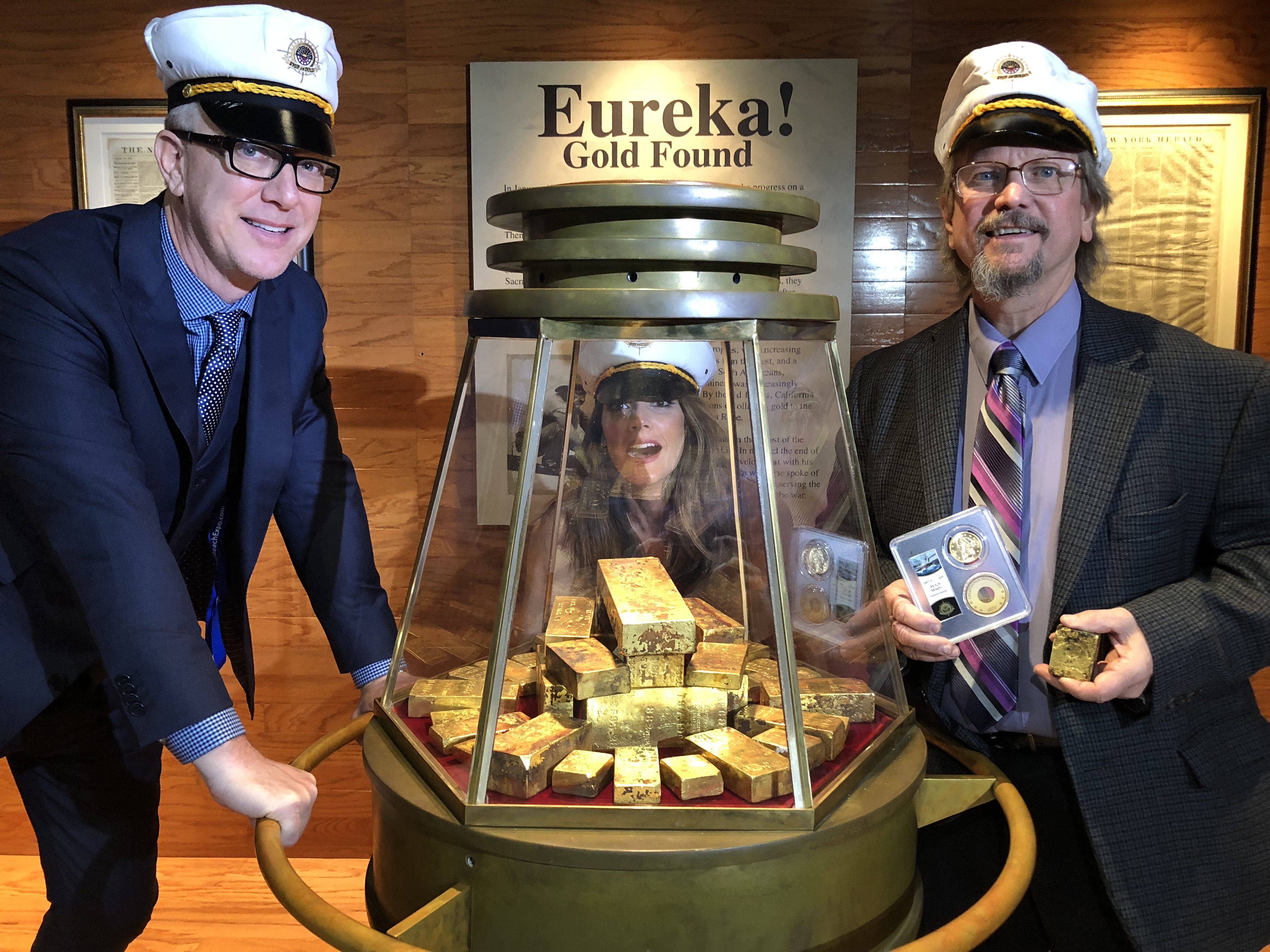 main image for PRESS RELEASE: Glittering Ship of Gold Exhibit  Attracts Record Crowd In Long Beach