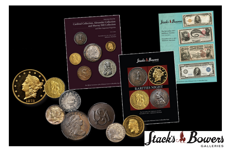 main image for PRESS RELEASE: Over $15.4 Million in U.S. Coins and Currency Sold at Stack's Bowers Galleries' Official Auction of the 2017 Whitman Coins & Collectibles Winter Expo