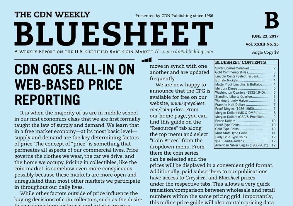 main image for BLUESHEET: CDN GOES ALL-IN ON WEB-BASED PRICE REPORTING