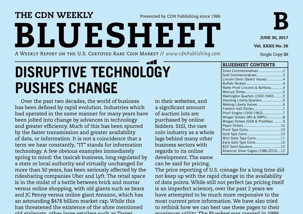 main image for BLUESHEET: DISRUPTIVE TECHNOLOGY PUSHES CHANGE