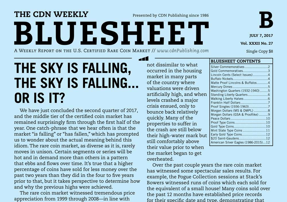 main image for BLUESHEET: THE SKY IS FALLING, THE SKY IS FALLING... OR IS IT?