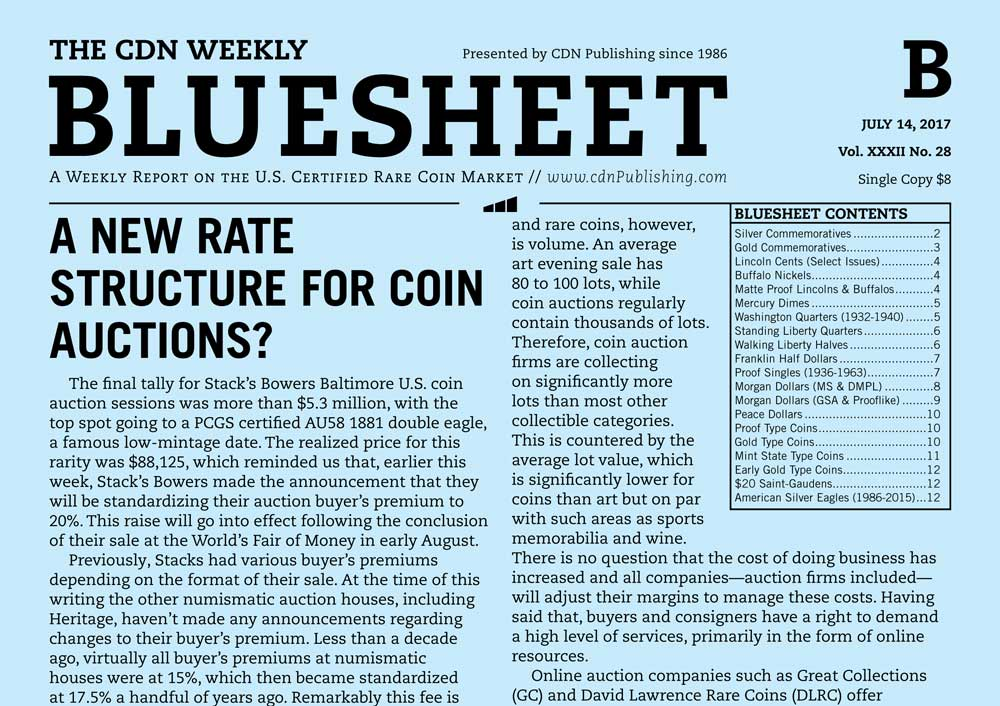 main image for BLUESHEET: A NEW RATE STRUCTURE FOR COIN AUCTIONS?
