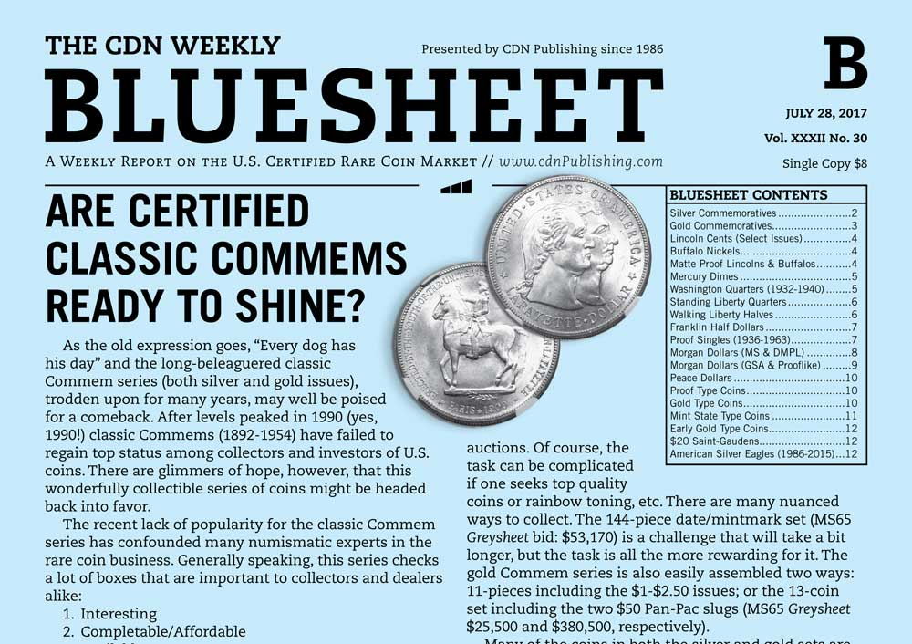 main image for BLUESHEET: ARE CERTIFIED CLASSIC COMMEMS READY TO SHINE?