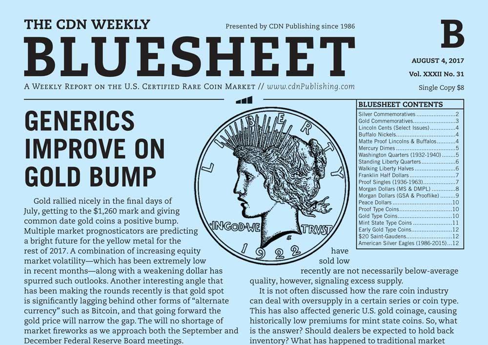 thumbnail image for BLUESHEET: GENERICS IMPROVE ON GOLD BUMP