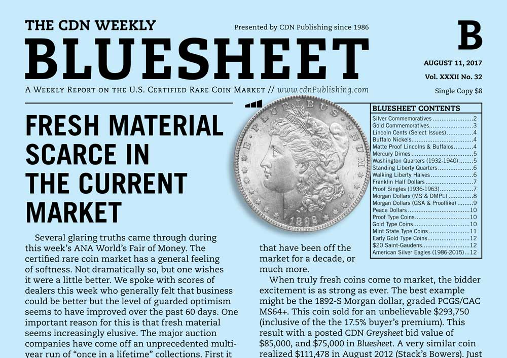main image for BLUESHEET: FRESH MATERIAL SCARCE IN THE CURRENT MARKET